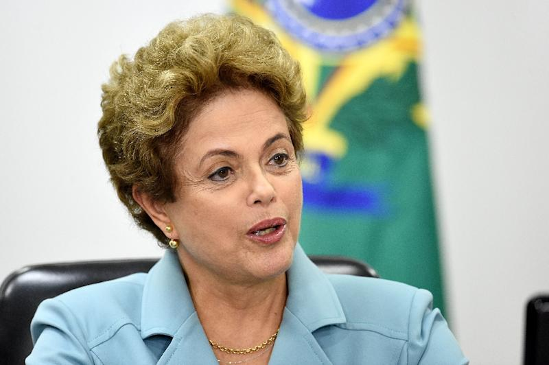 "Brazilian President Dilma Rousseff has described the impeachment process as a ""coup"" (AFP Photo/Evaristo Sa)"