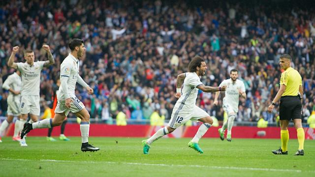 Marcelo was full of praise for Real Madrid's fighting spirit as another late goal salvaged what could prove a vital win over Valencia.
