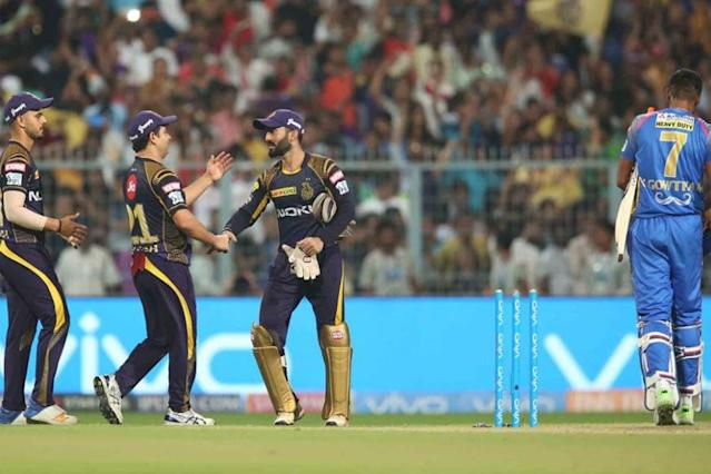 Kolkata Knight Riders (KKR) skipper Dinesh Karthik said they were under pressure in the Eliminator against Rajasthan Royals but eventually came up trumps to win by 25 runs and make Qualifier 2 of the Indian Premier League (IPL) here on Wednesday.
