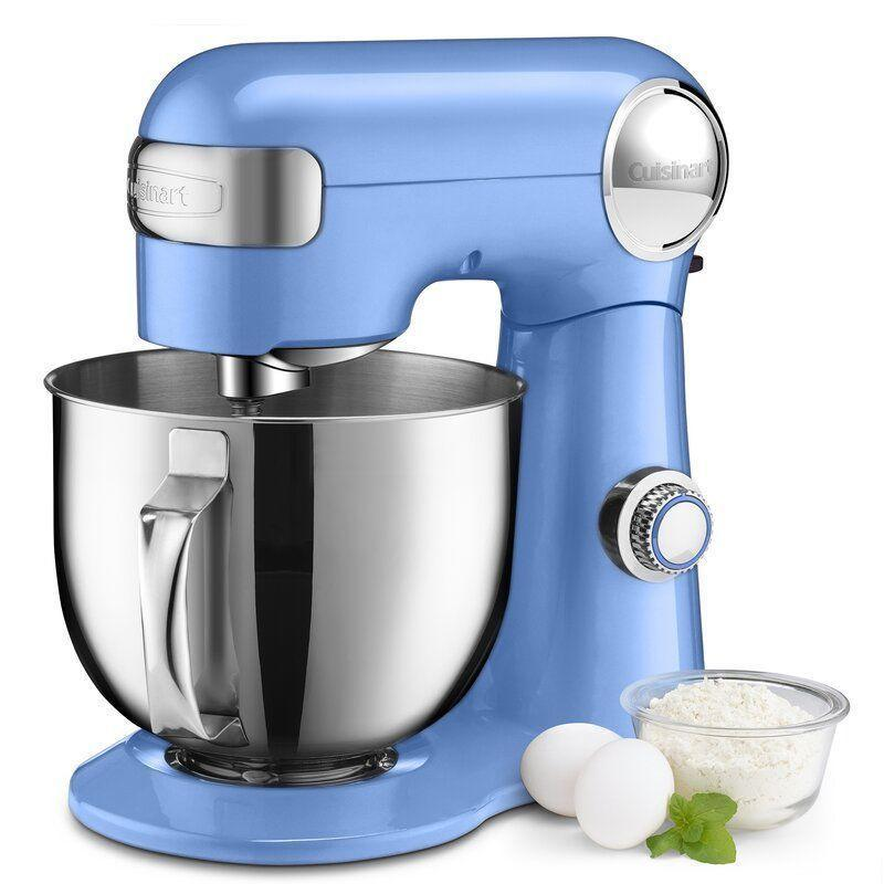 """<p><strong>Cuisinart</strong></p><p>wayfair.com</p><p><a href=""""https://go.redirectingat.com?id=74968X1596630&url=https%3A%2F%2Fwww.wayfair.com%2Fkitchen-tabletop%2Fpdp%2Fcuisinart-precision-master-55-quart-stand-mixer-cui3377.html&sref=https%3A%2F%2Fwww.delish.com%2Fkitchen-tools%2Fcookware-reviews%2Fg36277927%2Fway-day-kitchen-deals-2021%2F"""" rel=""""nofollow noopener"""" target=""""_blank"""" data-ylk=""""slk:Shop Now"""" class=""""link rapid-noclick-resp"""">Shop Now</a></p><p><strong><del>$365</del> $200 (45% off)</strong></p><p>Cuisinart's 5.5-quart stand mixer makes kneading, mixing and whipping dough child's play. A handful of colors are on sale for Way Day, though we're eyeing this periwinkle option for the retro-feeling pop it brings. </p>"""