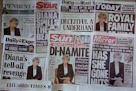 The UK front pages that followed Diana's explosive interview in 1995