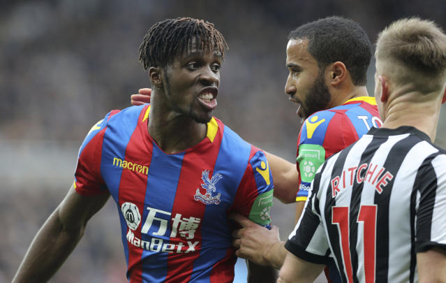 Crystal Palace's Wilfried Zaha managed just one shot against Newcastle and Palace failed to hit the target at all.