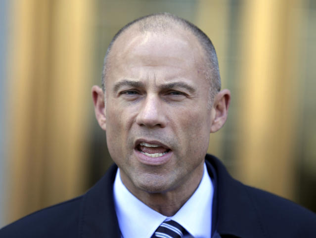 Michael Avenatti, Stormy Daniels's attorney, speaks to reporters outside of federal court in New York. (Photo: Seth Wenig/AP)