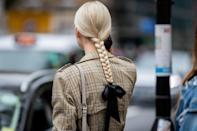 A clean braid and bow feels so classically British.