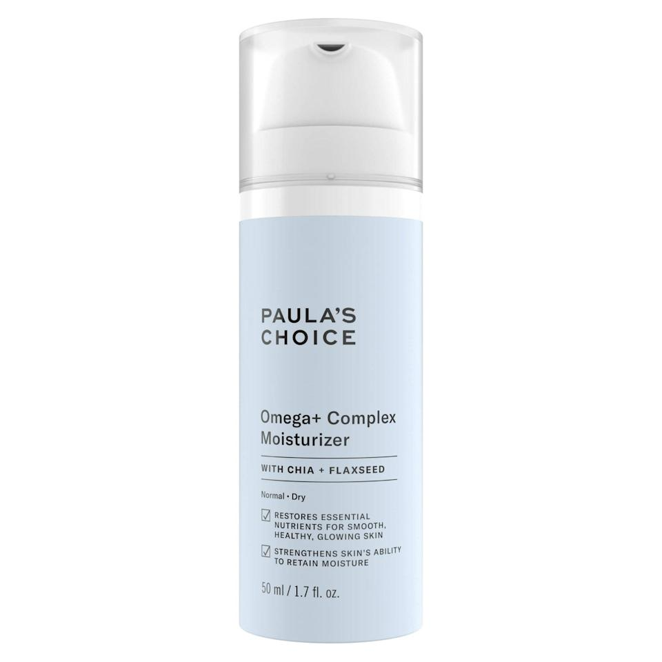 How do you follow up the success of a fan-favorite serum? By releasing a moisturizer version, of course. Paula's Choice's new addition to the Omega+ family features ceramides, botanical oils, and antioxidant-rich guava and passionfruit to nourish dry skin.