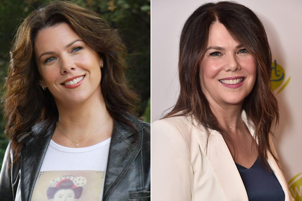 """<strong>THEN:</strong>Lorelai Gilmore was the definition of a """"cool mom,"""" and there was no one better for the role than Graham. With her penchant for junk food, coffee addiction and quick wit, she raised her daughter Rory on her own after finding out that she was pregnant at 16.  <strong>NOW: </strong>Following a <a href=""""https://people.com/theater/pop-singers-who-perform-broadway/"""">Broadway debut</a> in <em>Guys & Dolls</em> in 2007, Graham continued her streak of playing iconic TV moms when she took on the role of Sarah Braverman in <em>Parenthood</em>from 2010 to 2015. She has also starred in films like <em>Evan Almighty</em>,<em>Because I Said So</em> and <em>Cloudy with a Chance of Meatballs</em>. Graham also did a stint on<em>Curb Your Enthusiasm </em>in 2017 and is gearing up for a role in the show <em>Zoey's Extraordinary Playlist</em>in 2020.  Graham is <a href=""""https://people.com/tv/how-gilmore-girls-lauren-graham-helped-boyfriend-peter-krause-fulfill-lifelong-dream/"""">currently in a relationship</a> with her <em>Parenthood</em>co-star, Peter Krause, and has been since 2010!"""