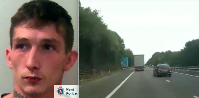 Connor Money was jailed following a high-speed police chase on the M2. (SWNS)