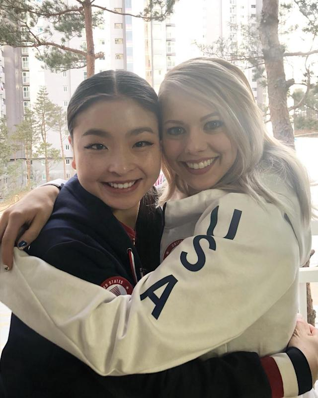 <p>maiashibutani: Olympic teammate and roommate! Good luck today @alexa_knierim & @chris_knierim! #TeamUSA #WinterOlympics (Photo via Instagram/maiashibutani) </p>