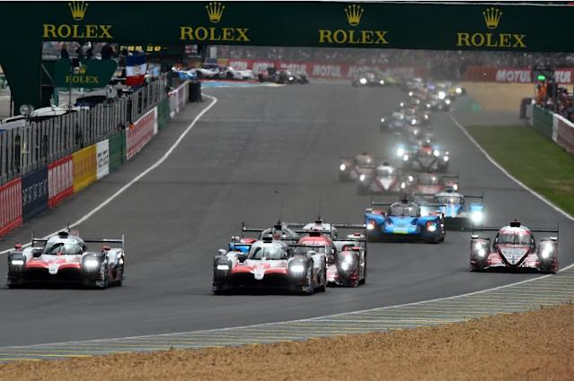 The two Toyotas took the lead at the start of the 24 Hours of Le Mans (AFP Photo/JEAN-FRANCOIS MONIER )