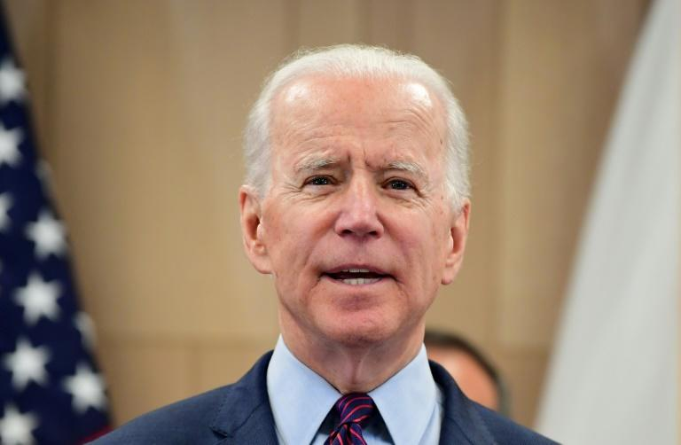 Democratic presidential hopeful Joe Biden is riding high after his Super Tuesday success (AFP Photo/Frederic J. BROWN)