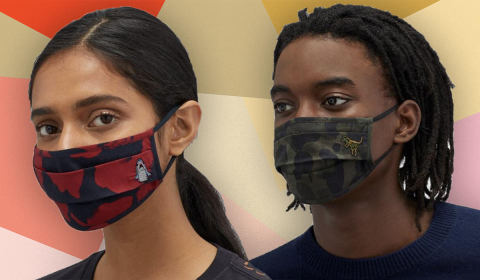 These chic masks make perfect gifts. (Photo: Coach)