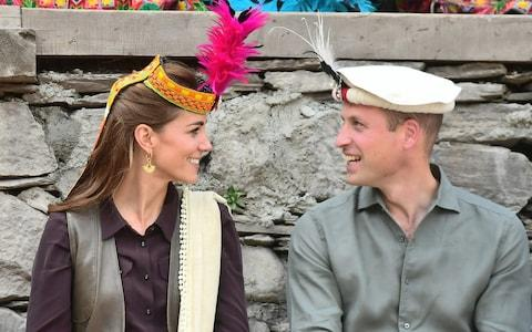 Prince William, Duke of Cambridge and Catherine, Duchess of Cambridge visit a settlement of the Kalash people, to learn more about their culture and unique heritage, on October 16, 2019 - Credit: WireImage