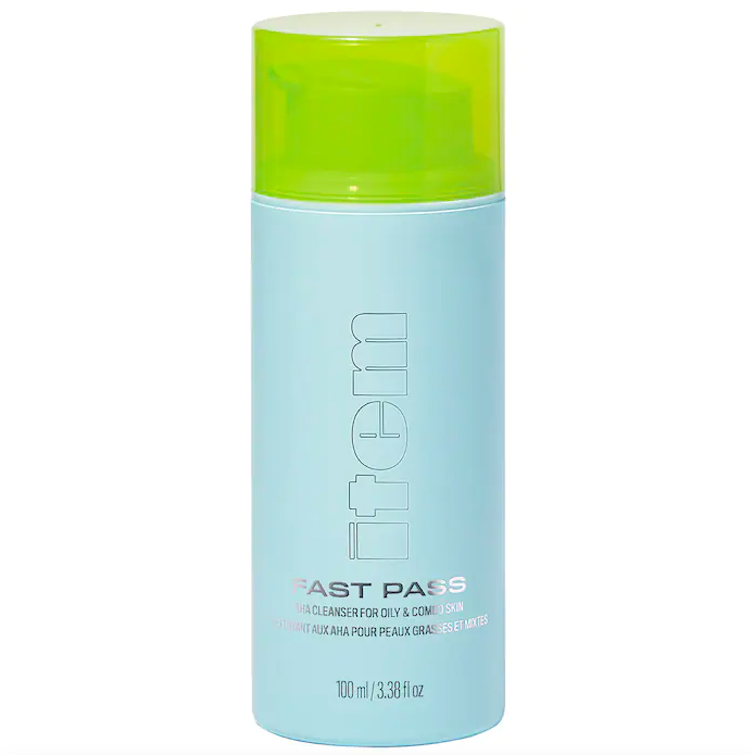 Item Beauty Fast Pass Clean Gentle Gel Cleanser with AHA. Image via Sephora.