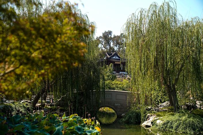 The Stargazing Tower in the Huntington's Chinese Garden.