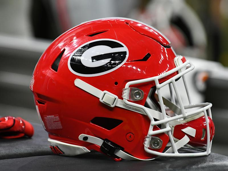 NEW ORLEANS, LA - JANUARY 01: Georgia Bulldogs helmet during the Allstate Sugar Bowl between the Georgia Bulldogs and Baylor Bears on January 01, 2020, at Mercedes-Benz Superdome in New Orleans, LA.(Photo by Jeffrey Vest/Icon Sportswire via Getty Images)