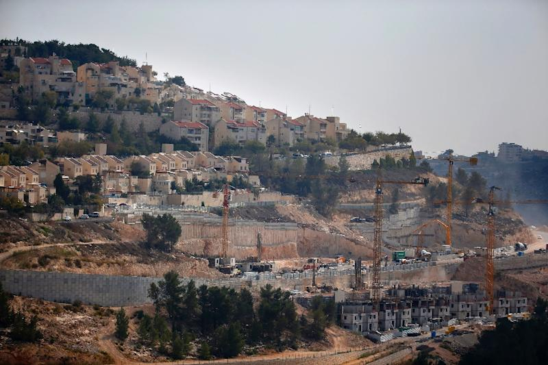 Israeli settlements in the West Bank and east Jerusalem, pictured here, are deemedillegal under international law and widely seen as the main obstacle to peace