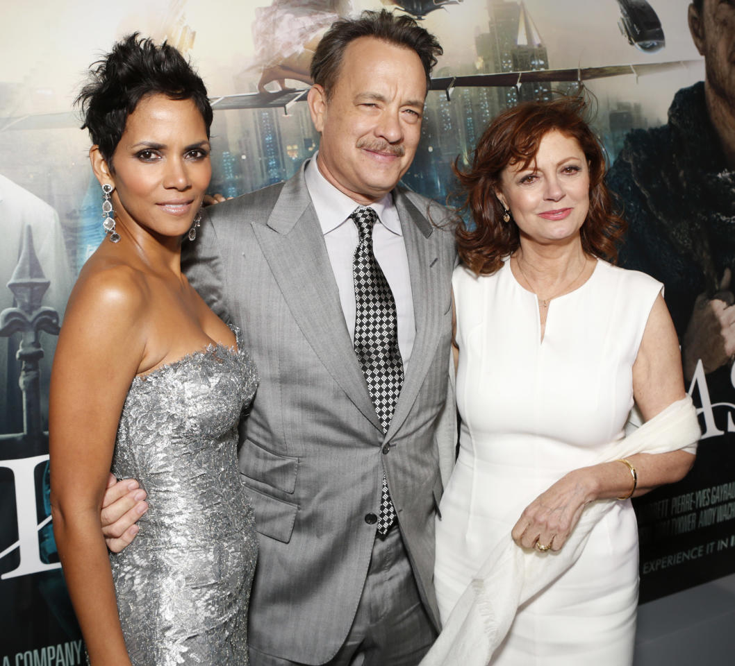 Halle Berry, Tom Hanks and Susan Sarandon arrive at the Los Angeles premiere of 'Cloud Atlas' at Grauman's Chinese Theatre on October 24, 2012 in Hollywood, California. (Photo by Todd Williamson/Invision/AP Images)