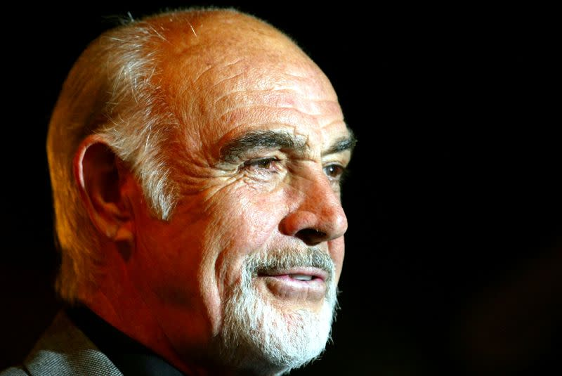 FILE PHOTO: British actor Sean Connery arrives for the premiere of his latest film 'The League of Extraordinary Gentlemen', at the Odeon, Leicester Square, London