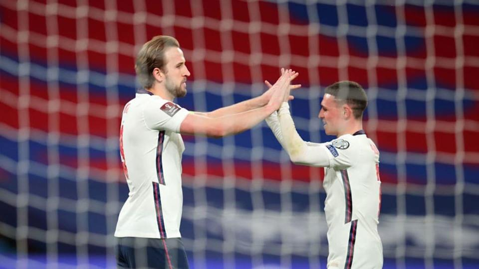 Harry Kane y Phil Foden   Catherine Ivill/Getty Images