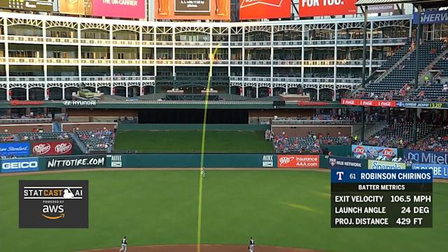 MLB Statcast in action during a July 26, 2018 Texas Rangers vs Oakland Athletics game. (Courtesy MLB)