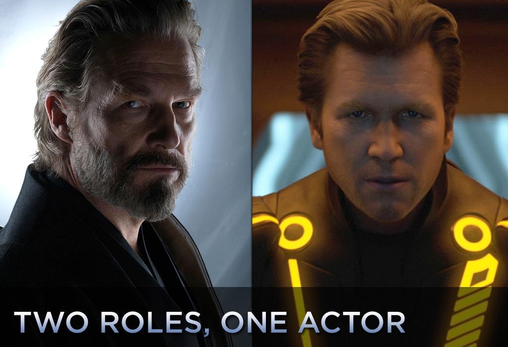 """In """"<a href=""""http://movies.yahoo.com/movie/1810096458/info"""">TRON: Legacy</a>,"""" which opens this weekend, Jeff Bridges faces off against himself. He not only plays Kevin Flynn, the computer-bound protagonist from the 1982 original, but he also plays Clu, the malevolent digital despot of the Grid. We've put together a gallery of other movies where an actor puts in double (or triple) duty. Click ahead and see."""