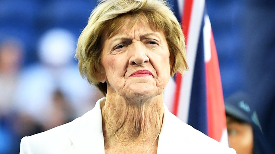 Margaret Court, pictured here at the Australian Open in January.