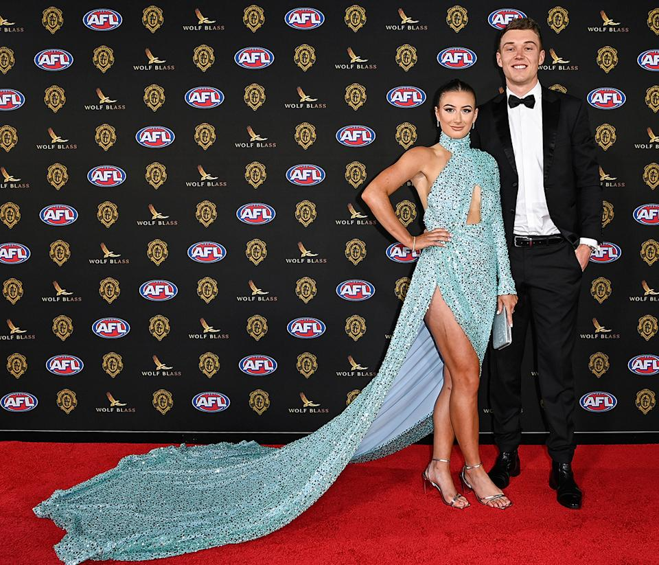 Patrick Cripps and Monique Fontana at the 2021 Brownlow Medal