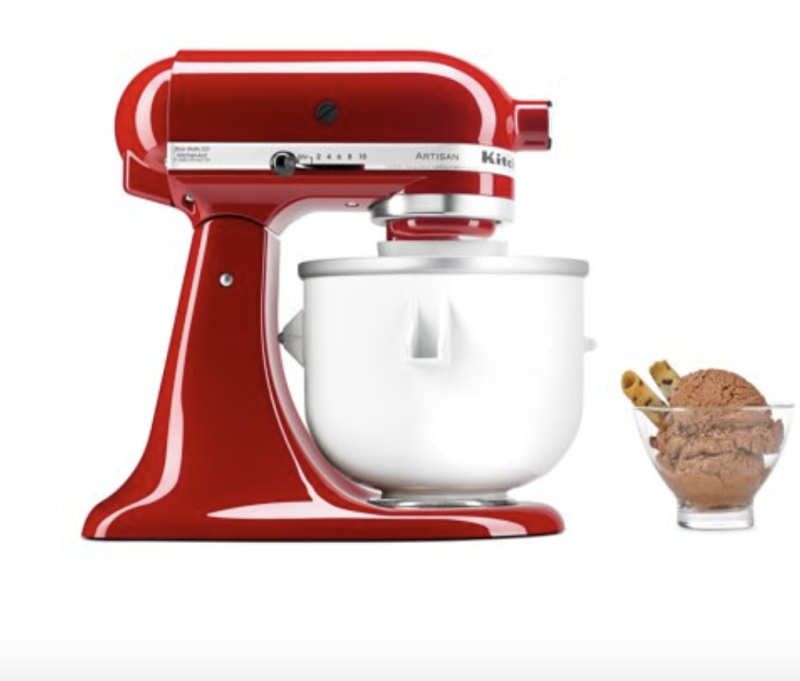 Whirlpool KitchenAid Ice Cream Maker Stand with Mixer Attachment. (Photo: Walmart)