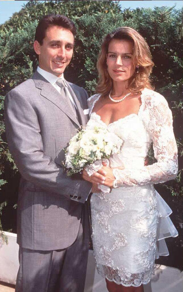 <p>In a unique twist on tradition, Princess Stéphanie of Monaco opted for a ruffled lace mini dress for her wedding to former bodyguard, Daniel Ducruet. </p>