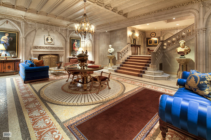 Woolworth Mansion for rent, just $150K a month entry hall