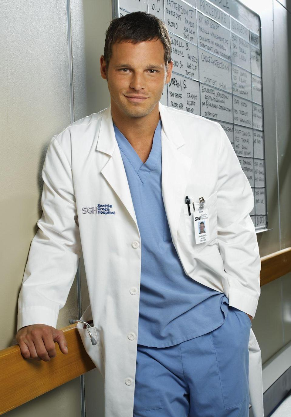"""<p>Justin Chambers was brought on after the pilot episode. """"The role of Dr. Karev...they shot the pilot before I came on,"""" <a href=""""https://www.youtube.com/watch?v=TctdVWdznm8"""" rel=""""nofollow noopener"""" target=""""_blank"""" data-ylk=""""slk:he said"""" class=""""link rapid-noclick-resp"""">he said</a>. """"The character wasn't even created yet, I don't think. They sent the pilot to New York where I live and I saw it and loved it and I went out to L.A. to try to win the part and auditioned and got the role. So that's how Alex came about."""" </p>"""