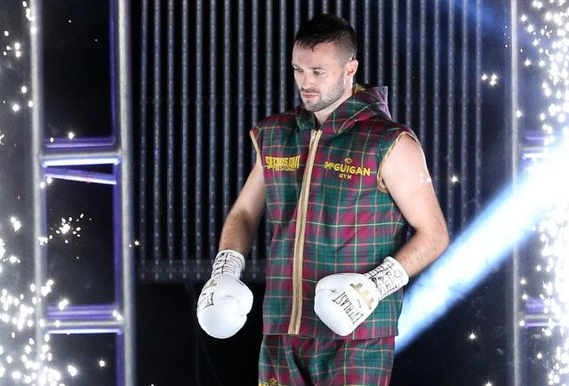 Josh Taylor secured victory after two minutes and 41 seconds