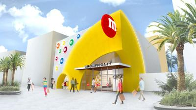 Outdoor façade of new M&M'S experiential store coming to Disney Springs®.