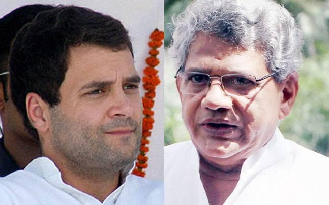Rahul Gandhi meets Yechury to corner BJP government on GST, EVM tampering