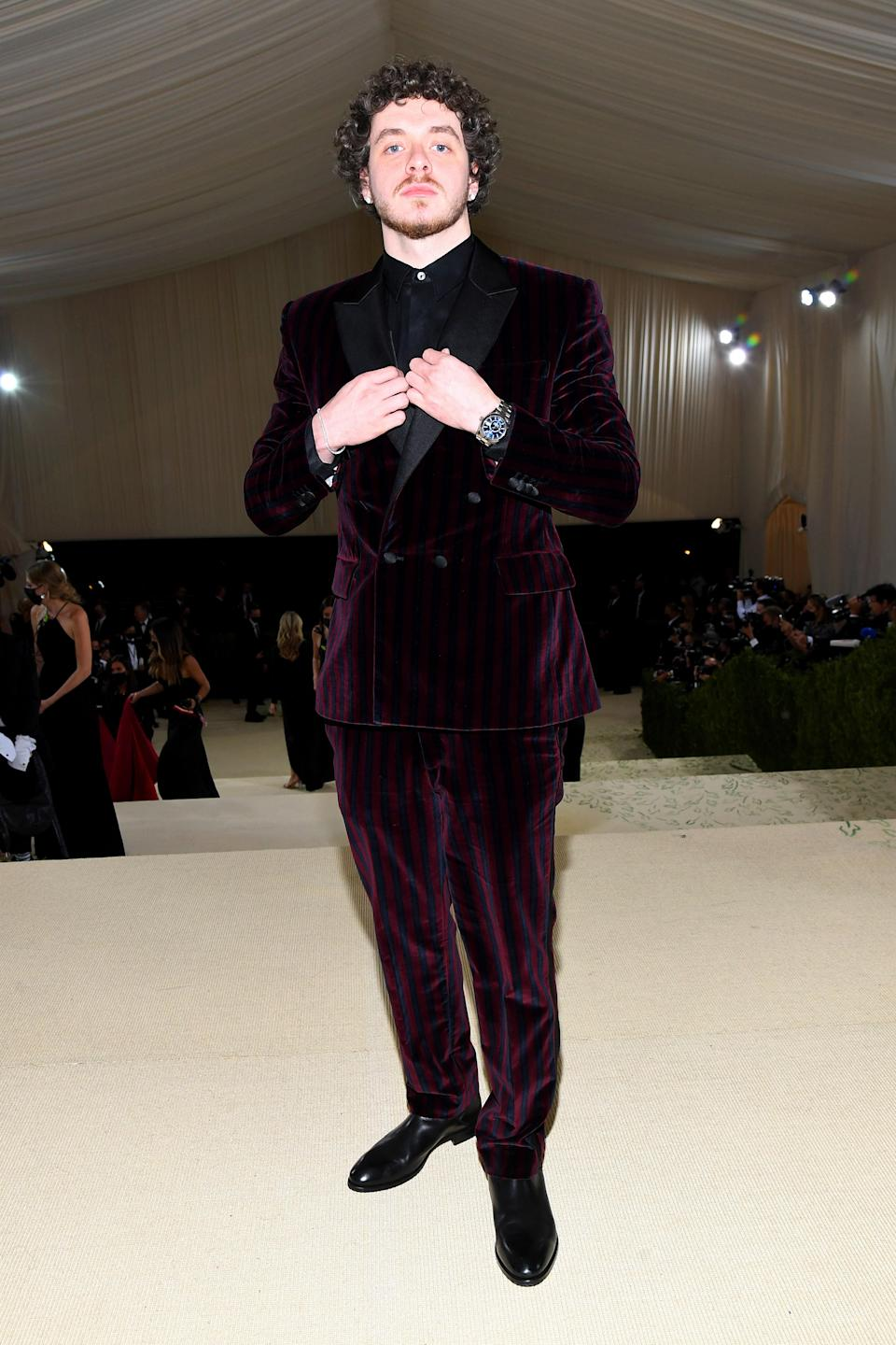 """<h1 class=""""title"""">Jack Harlow in Tommy Hilfiger</h1><cite class=""""credit"""">Photo: Getty Images</cite>"""