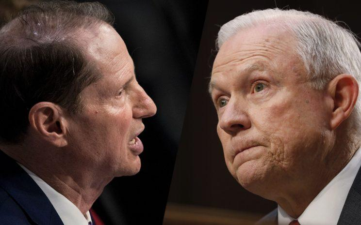 Sen. Ron Wyden, Attorney General Jeff Sessions.