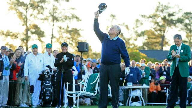 """""""It is a wonderful but in one respect difficult day,"""" Masters chairman Billy Payne said as the 2017 tournament began without Arnold Palmer."""