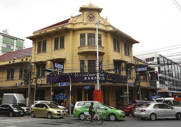 A branch of Siam Commercial Bank in Bangkok's Chinatown.