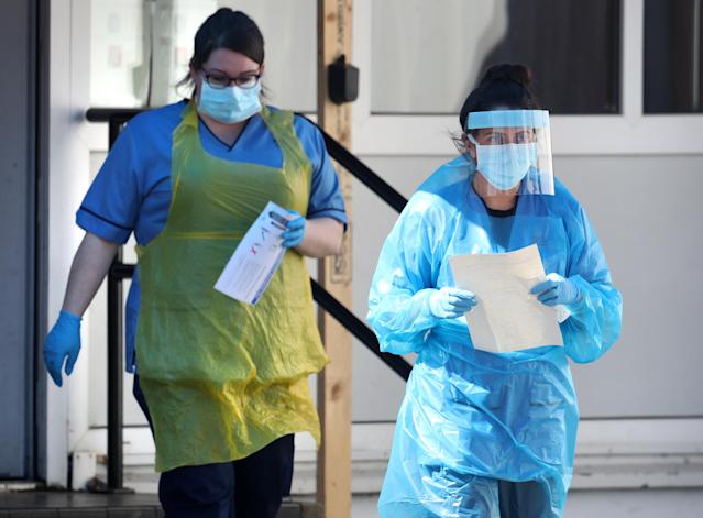 Britain has not yet reached its coronavirus peak, EU scientists have said. (Andrew Milligan/PA Images via Getty Images)