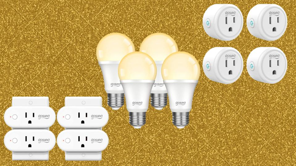 Golden deals! Save up to 55 percent on Gosund smart home devices. (Photo: Amazon)