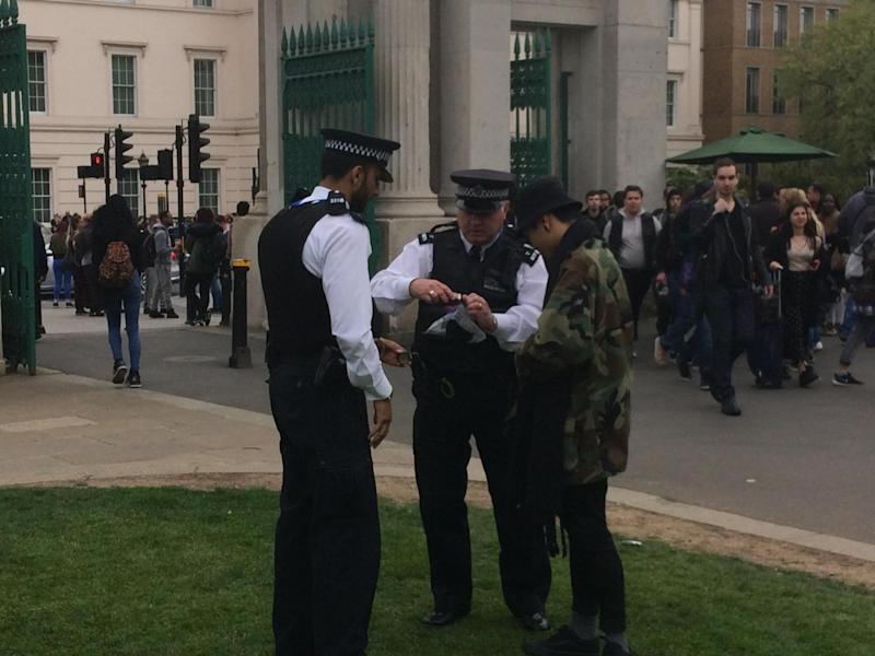 Protest: Police at the 2017 event