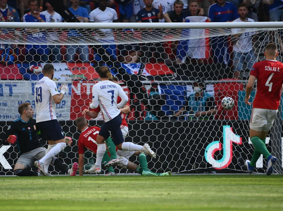 Griezmann tucks away the equalising goal (POOL/AFP via Getty Images)