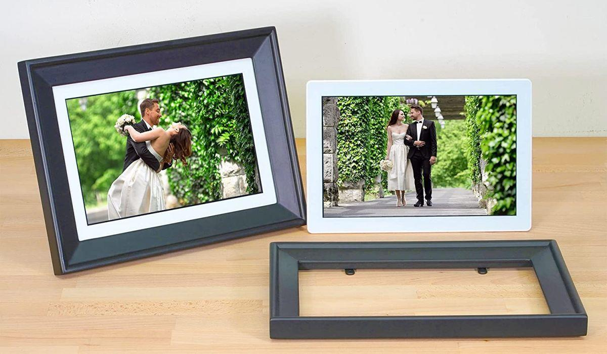 You can use the PhotoSpring digital photo frame with or without its, er, frame. Either way, treat yourself to an ongoing slideshow of all your precious memories. (Photo: PhotoSpring)