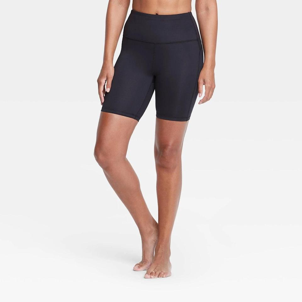 <p>These <span>All in Motion Contour Curvy High-Rise Shorts</span> ($16) are perfect for spring workouts.</p>