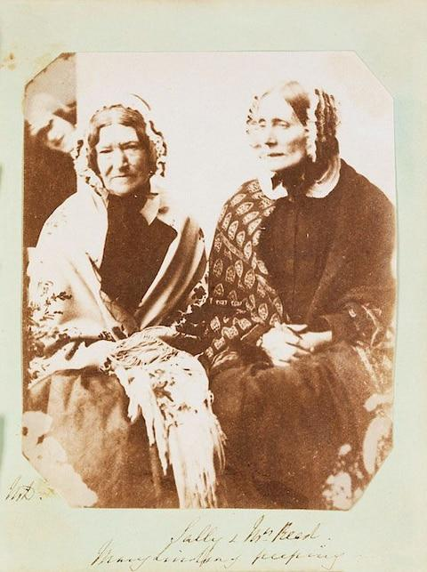 Portrait with photobomber back left by Mary Dillwyn, 1853 - Credit: National Library of Wales