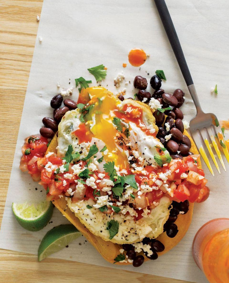 """<p>The choice is yours — serve this Mexican classic at <a href=""""https://www.goodhousekeeping.com/food-recipes/easy/g428/easy-egg-recipes/"""" rel=""""nofollow noopener"""" target=""""_blank"""" data-ylk=""""slk:breakfast"""" class=""""link rapid-noclick-resp"""">breakfast</a>, lunch, or dinner. </p><p><em><a href=""""https://www.countryliving.com/food-drinks/recipes/a35259/huevos-rancheros-recipe-clv0515/"""" rel=""""nofollow noopener"""" target=""""_blank"""" data-ylk=""""slk:Get the recipe from Country Living »"""" class=""""link rapid-noclick-resp"""">Get the recipe from Country Living »</a></em></p>"""