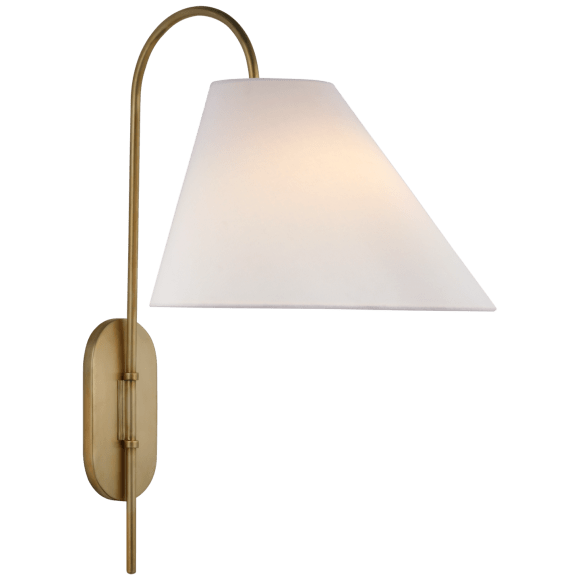 "<p><strong>Visual Comfort</strong></p><p>circalighting.com</p><p><strong>$999.00</strong></p><p><a href=""https://www.circalighting.com/kinsley-large-articulating-wall-light-ks2220/"" rel=""nofollow noopener"" target=""_blank"" data-ylk=""slk:Shop Now"" class=""link rapid-noclick-resp"">Shop Now</a></p><p>Thanks to the linen shade, this sconce offers soft, diffused lighting—great for a bedroom. </p>"