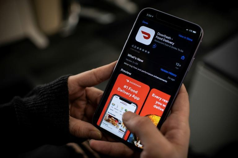 In just the first nine months of this year, DoorDash has likely filled over 1 billion orders, most of them in the US, where the company is the market leader (AFP/Eric BARADAT)