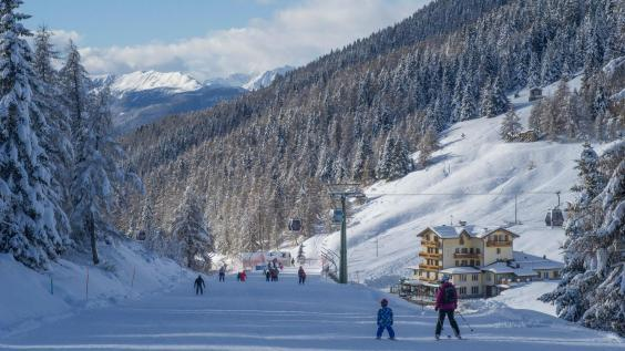 Branching out: try the tree-lined slopes at nearby Ponte di Legno