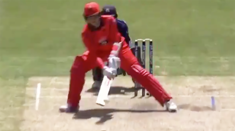 Tom Cooper made Victorian wicketkeeper Sam Harper look silly, after the gloveman tried to bait the batsman into a silly shot. Picture: Fox Sports